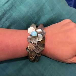 Mother of Pearl stretch Bracelet 8""
